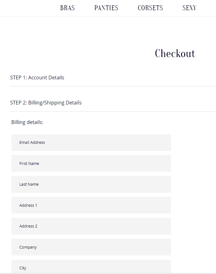 Store Checkout Settings form