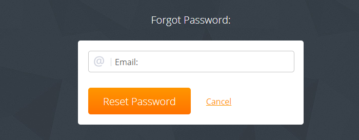 personal account & activation reset password