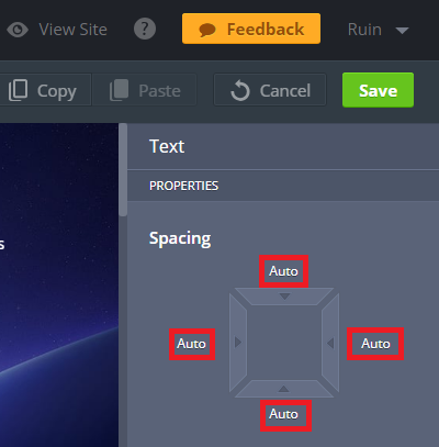 MotoCMS 3 Design Spacing Specifics