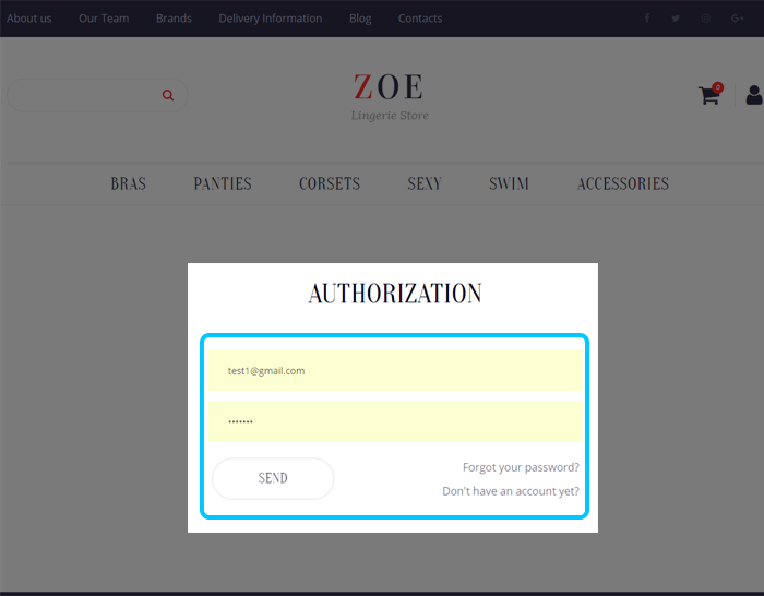 Store Authorization Template Live